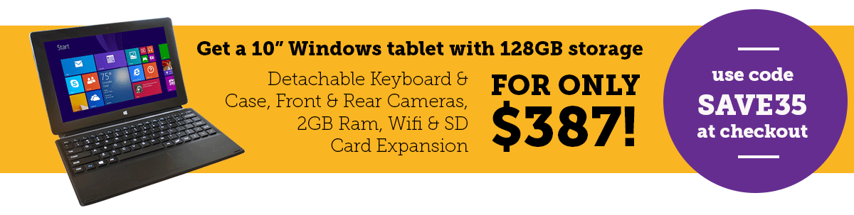 "Buy 10"" Tablet and save"